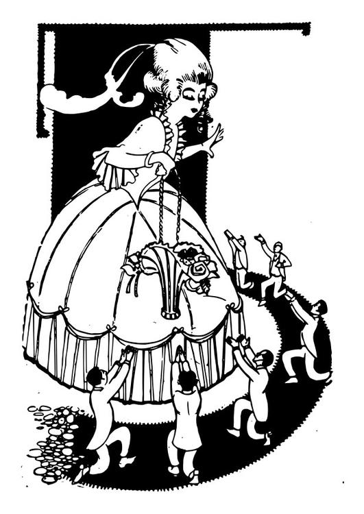 Admiradores clipart clip freeuse library Dibujo para colorear mujer con admiradores - Img 28063 Images clip freeuse library
