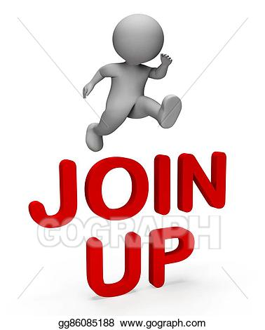 Clipart - Join up indicates admission registration and man 3d ... picture library download