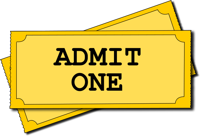 Download Free png Admission clipart: Admit one - DLPNG.com banner download