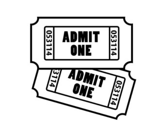 Admit clipart imges black and white stock Admit one clipart 3 » Clipart Station black and white stock