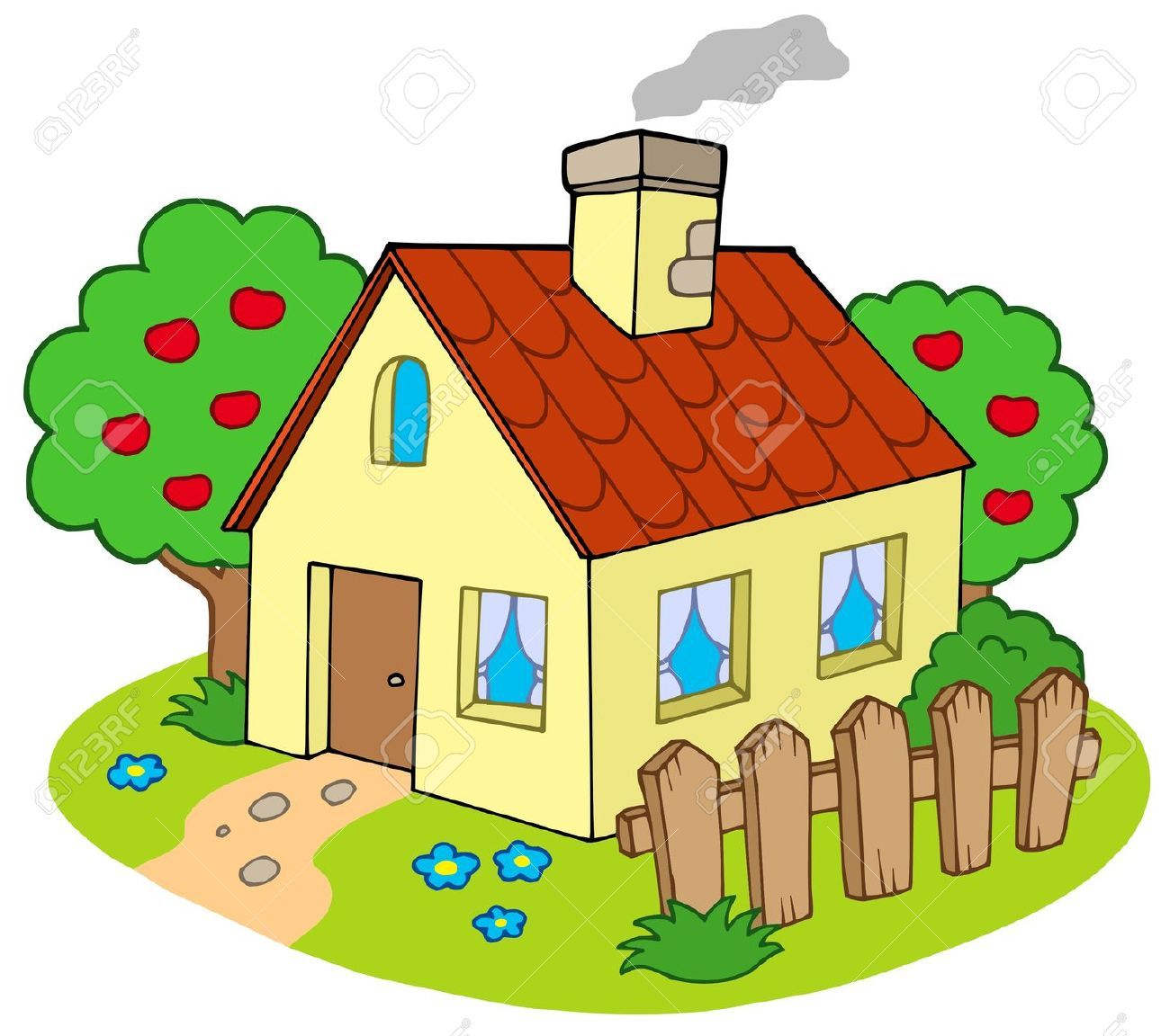 Adobe casa clipart png transparent library Stock Vector   CUTE HOUSE\'S & BUILDING ♥   Cartoon house, Garden ... png transparent library