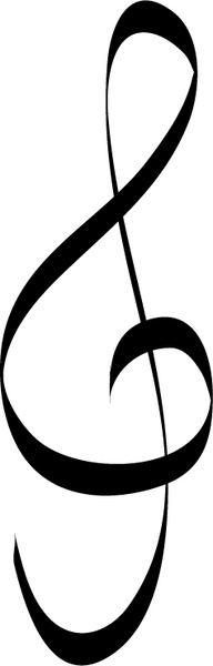 Adobe clipart images music notes vector freeuse stock Treble clef music note Free vector in Adobe Illustrator ai ( .ai ... vector freeuse stock