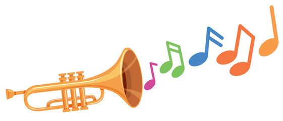 Adobe clipart images music notes image black and white Trumpet Vector photos, royalty-free images, graphics, vectors ... image black and white