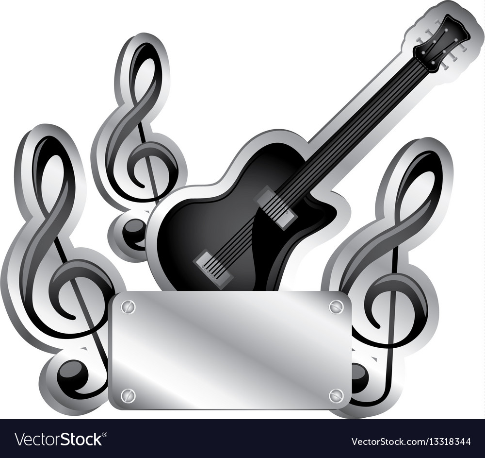 Adobe clipart images music notes image free download Electric guitar and musical notes icon relief with image free download