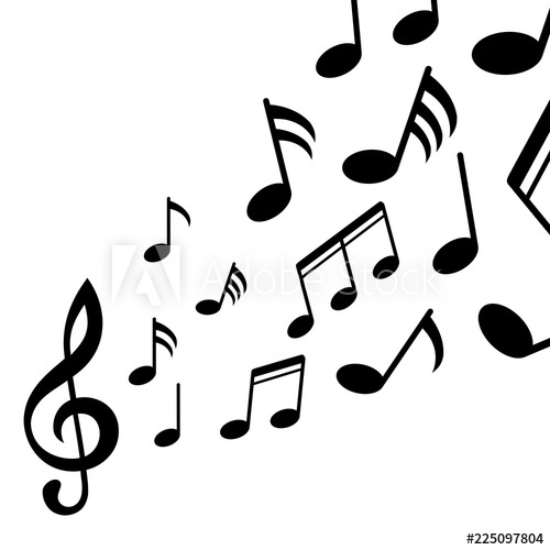 Adobe clipart images music notes svg royalty free Music notes, black group musical notes – for stock - Buy this stock ... svg royalty free