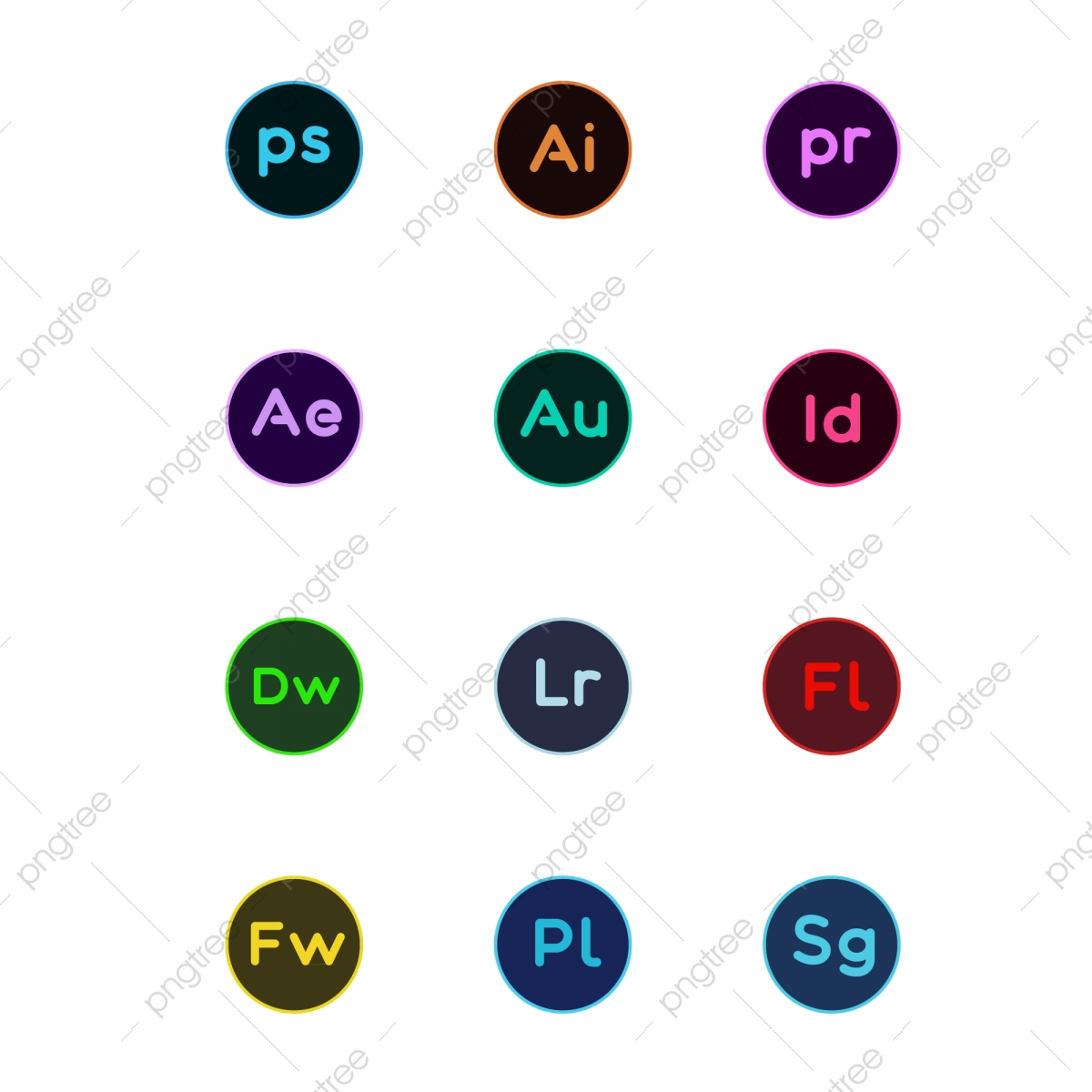Adobe Software, Photoshop, The Illustrator PNG and Vector with ... clipart royalty free