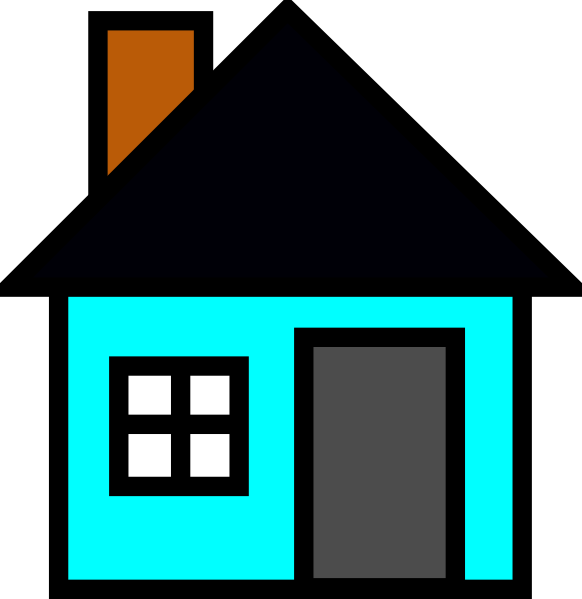 Adobe house clipart png library library House Clipart Teal Free collection | Download and share House ... png library library