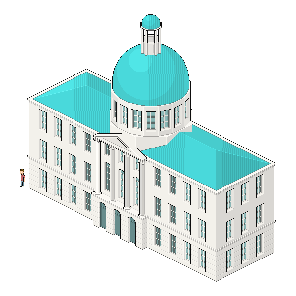 Adobe house clipart graphic royalty free Create an Isometric Pixel Art City Hall in Adobe Photoshop ... graphic royalty free