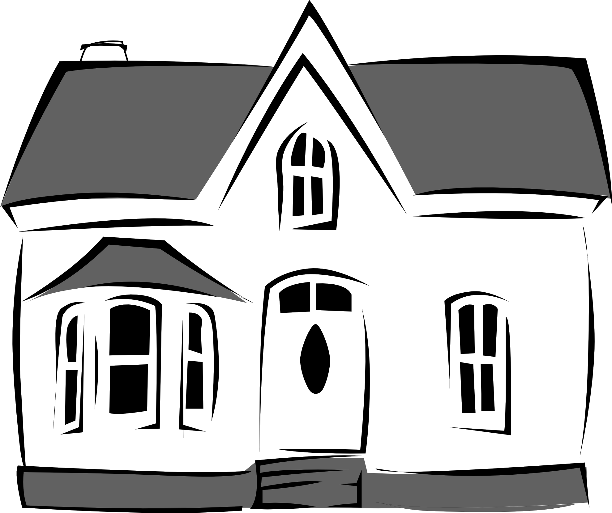 Farm house clipart black and white image freeuse library Black And White Cartoon House ClipArt Best, black and white house ... image freeuse library