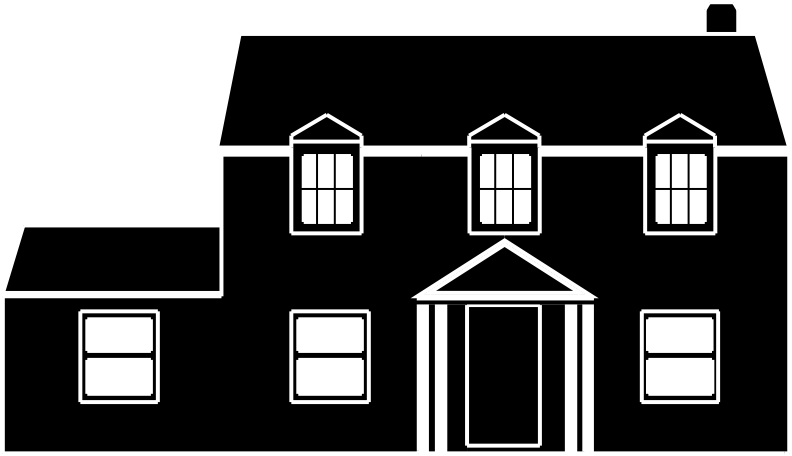Clipart Black And White House, black and white house - White House png library stock