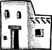 Adobe houses clipart picture black and white library Free Adobe House Cliparts, Download Free Clip Art, Free Clip Art on ... picture black and white library