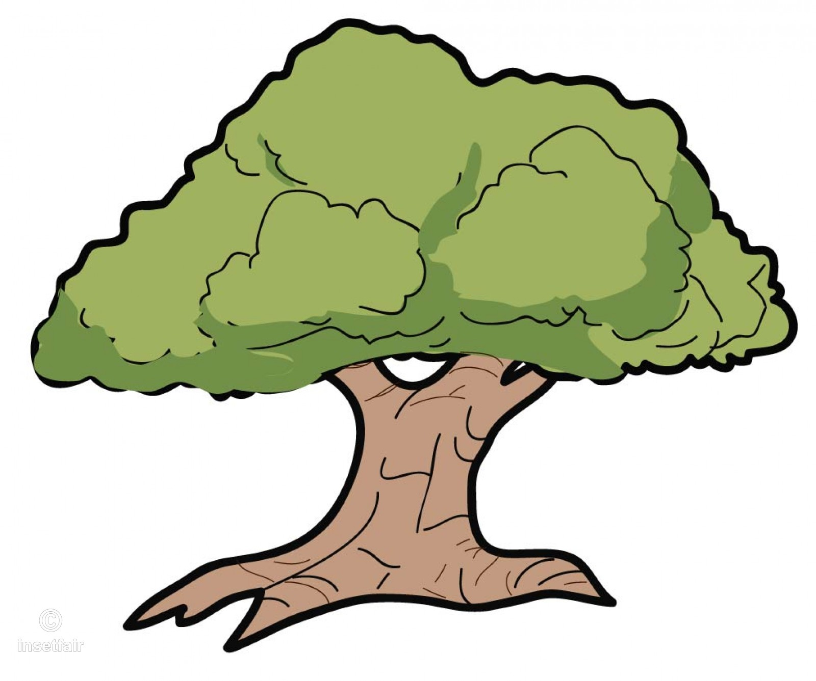 Large Tree Vector Clipart with Adobe Illustrator clipart free download