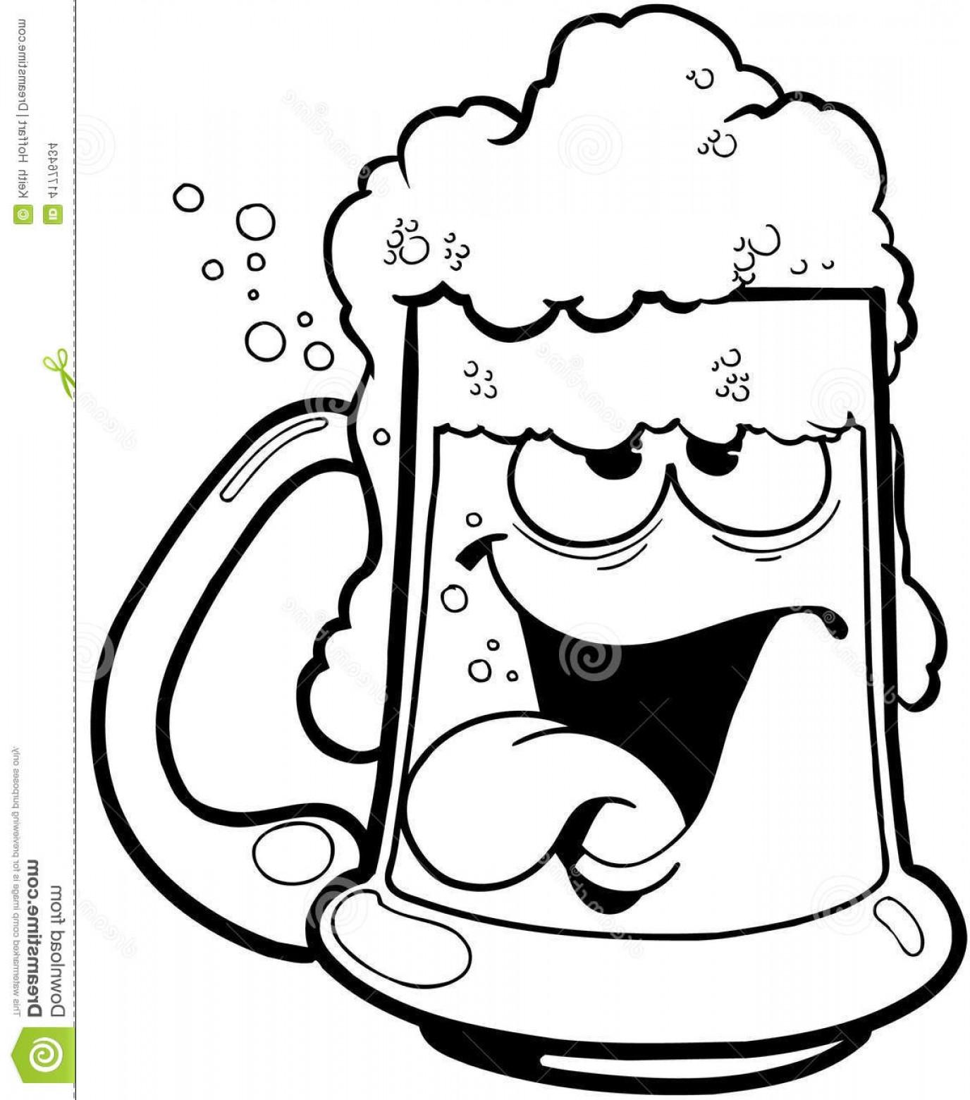Stock Illustration Drunk Mug Beer Cartoon Vector Clipart Created ... clip