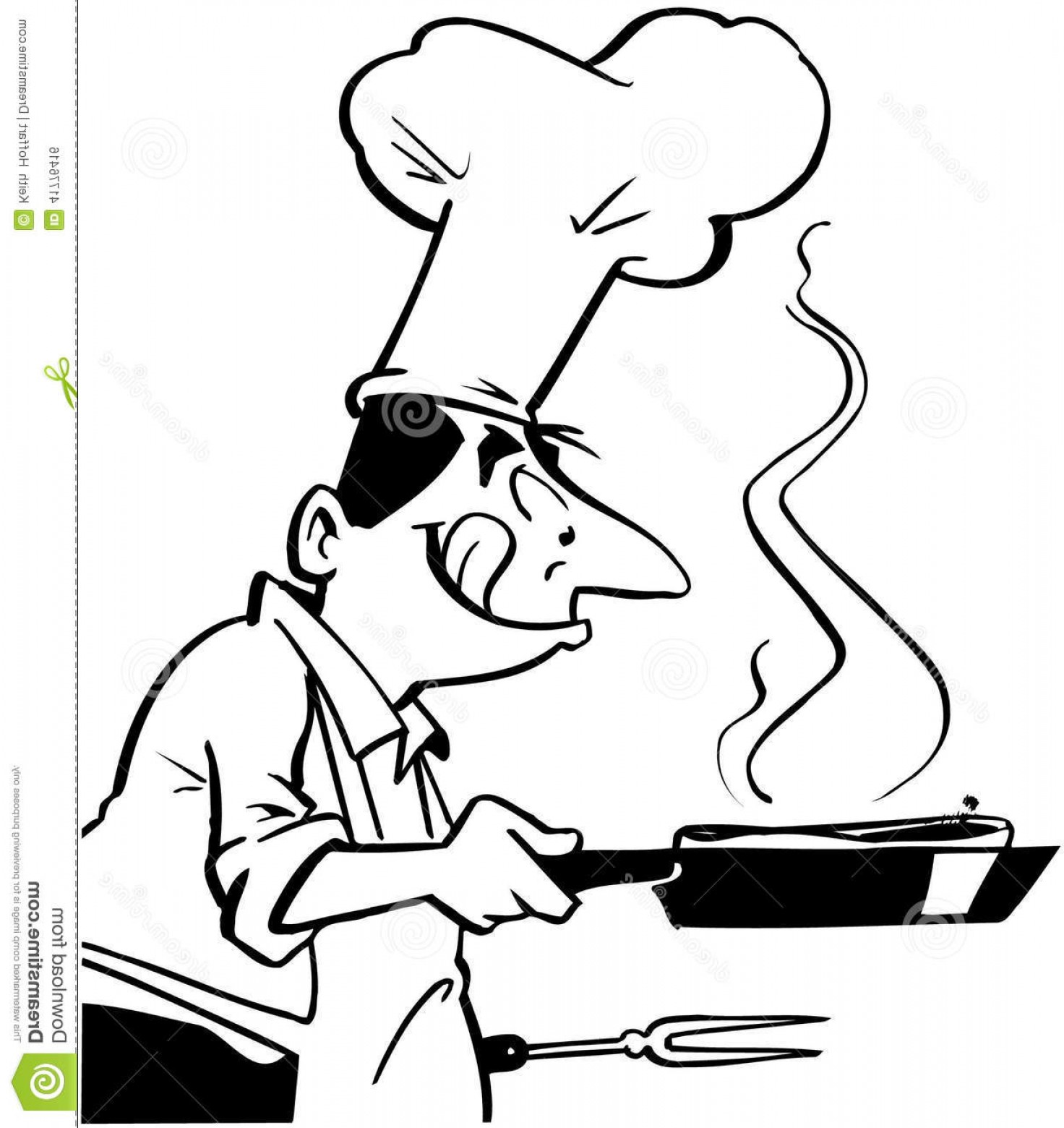 Stock Illustration Chef Cooking Food Cartoon Vector Clipart Created ... banner free stock
