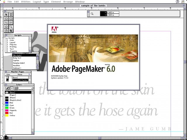 Adobe PageMaker 6.0 - Macintosh Repository clip black and white library