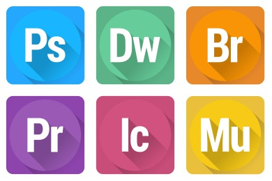 Adobe software icons clipart banner free download Adobe Icons banner free download
