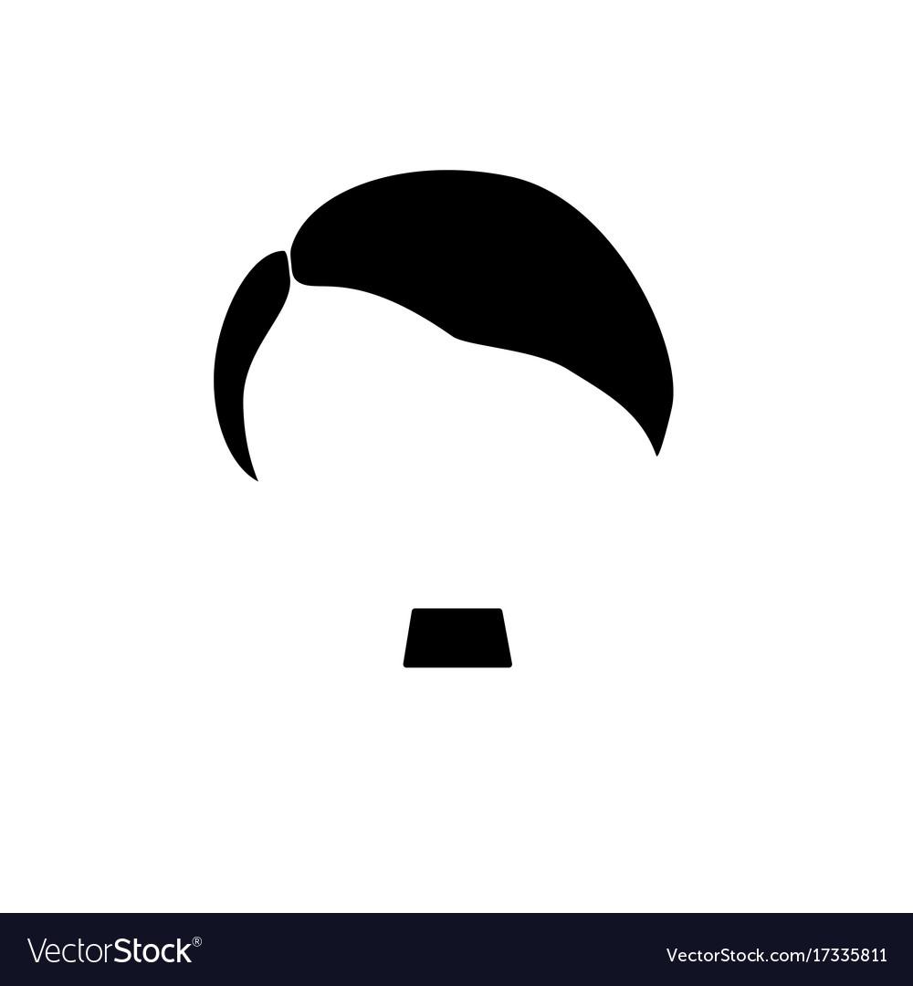 Hair mustache nazi in black color clip royalty free stock