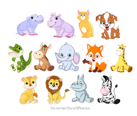 Adorable animal clipart image free Download Free png Cute Animal clipart Kids clip - DLPNG.com image free
