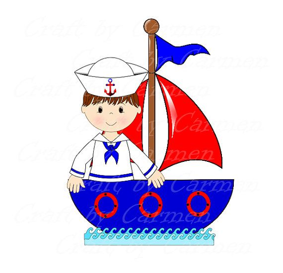 Adorable boat clipart picture freeuse stock Sailor clip art, boat, baby boy, cute sailor, ahoy, baby shower ... picture freeuse stock