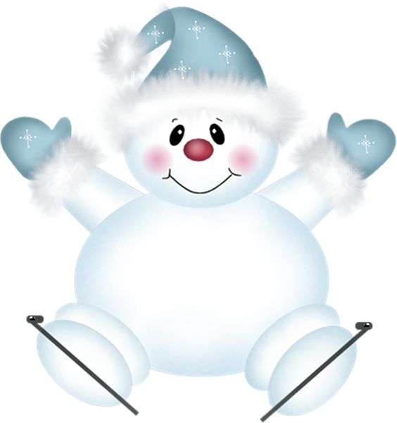 Adorable christmas snowflake clipart clip freeuse Cute PNG Snowman with Skies Clipart | Pekné obrázky | Pinterest ... clip freeuse