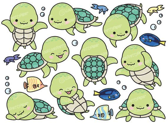 High clipart royalty free stock Premium Vector Clipart - Kawaii Turtle - Cute Turtle Clipart Set ... royalty free stock