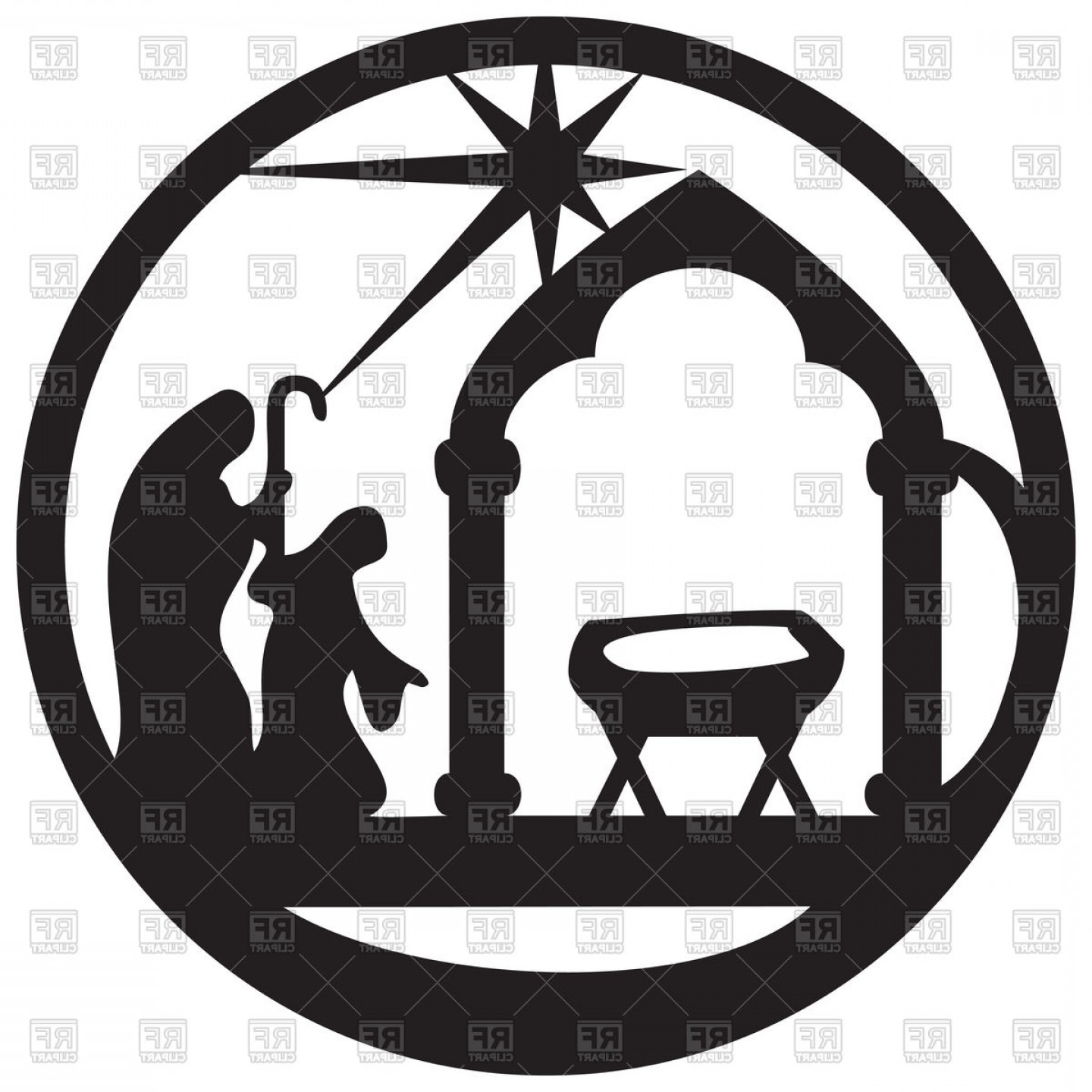 Adoration of magi clipart svg free Adoration Of Magi Silhouette Icon Scene Of Holy Bible Vector Clipart ... svg free