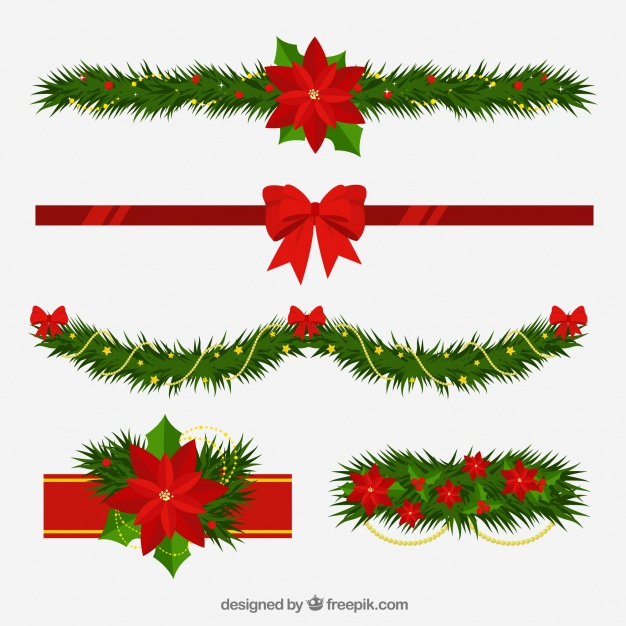 Adornos navide os clipart gratis graphic stock Adornos navideños con estilo floral | Descargar Vectores gratis graphic stock