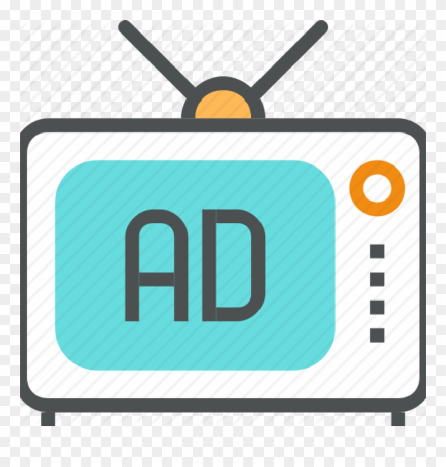 Advertising Clipart Tv Advertisement - Tv Advertisement Png ... clip black and white library