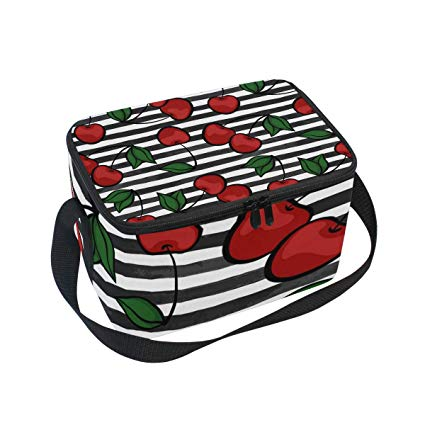 Amazon.com: Zebra Striped Cherry Adult Lunch Box Lunch Insulated Bag ... banner free download