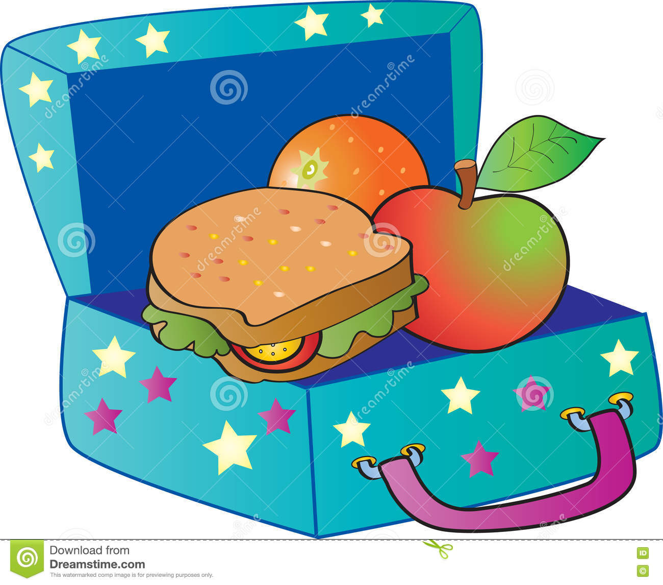 Lunch Box Drawing at PaintingValley.com | Explore collection of ... clipart download