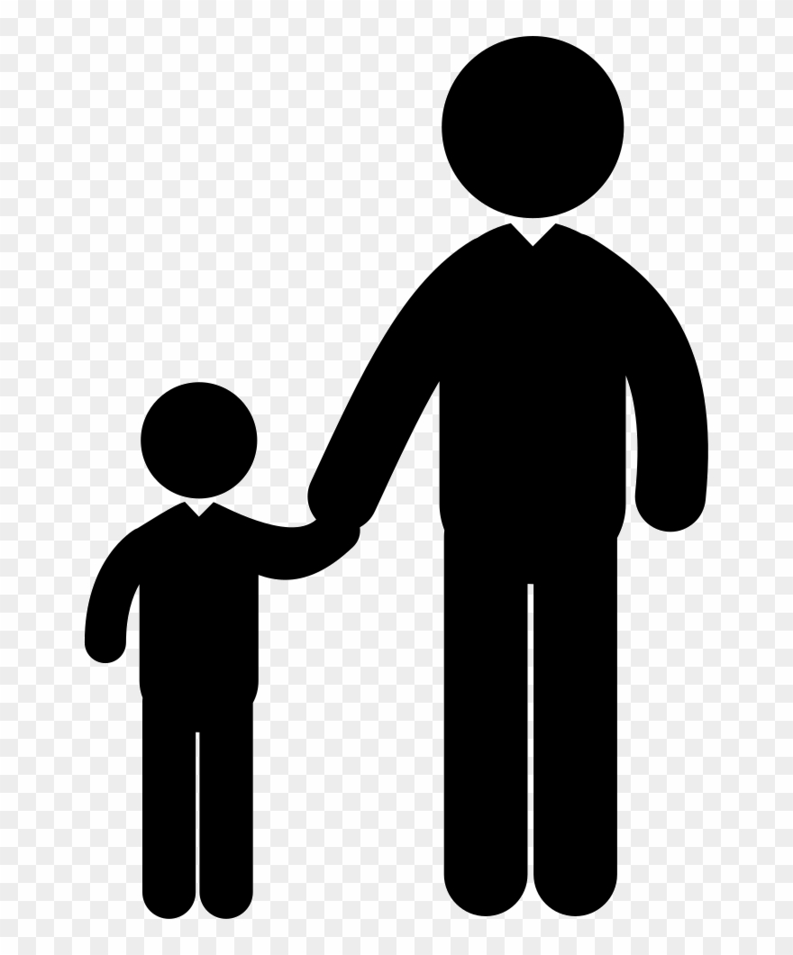 Adult kid handshake clipart svg black and white download Adult And Silhouettes Png - Adult And Child Vector Clipart (#3618958 ... svg black and white download