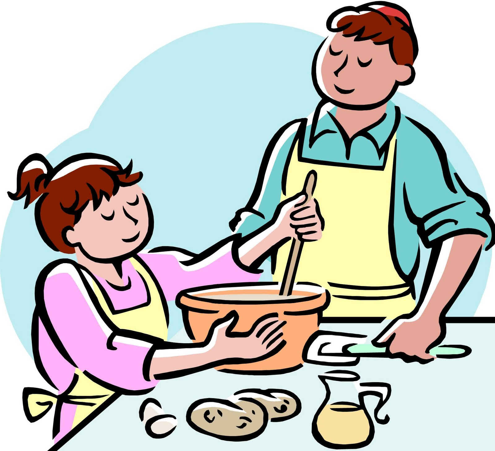 Mom and daughter baking clipart black and white svg freeuse download Free Cooking Class Cliparts, Download Free Clip Art, Free Clip Art ... svg freeuse download