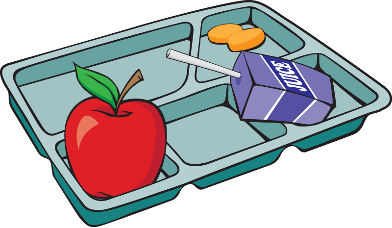 Adult dinner tray clipart