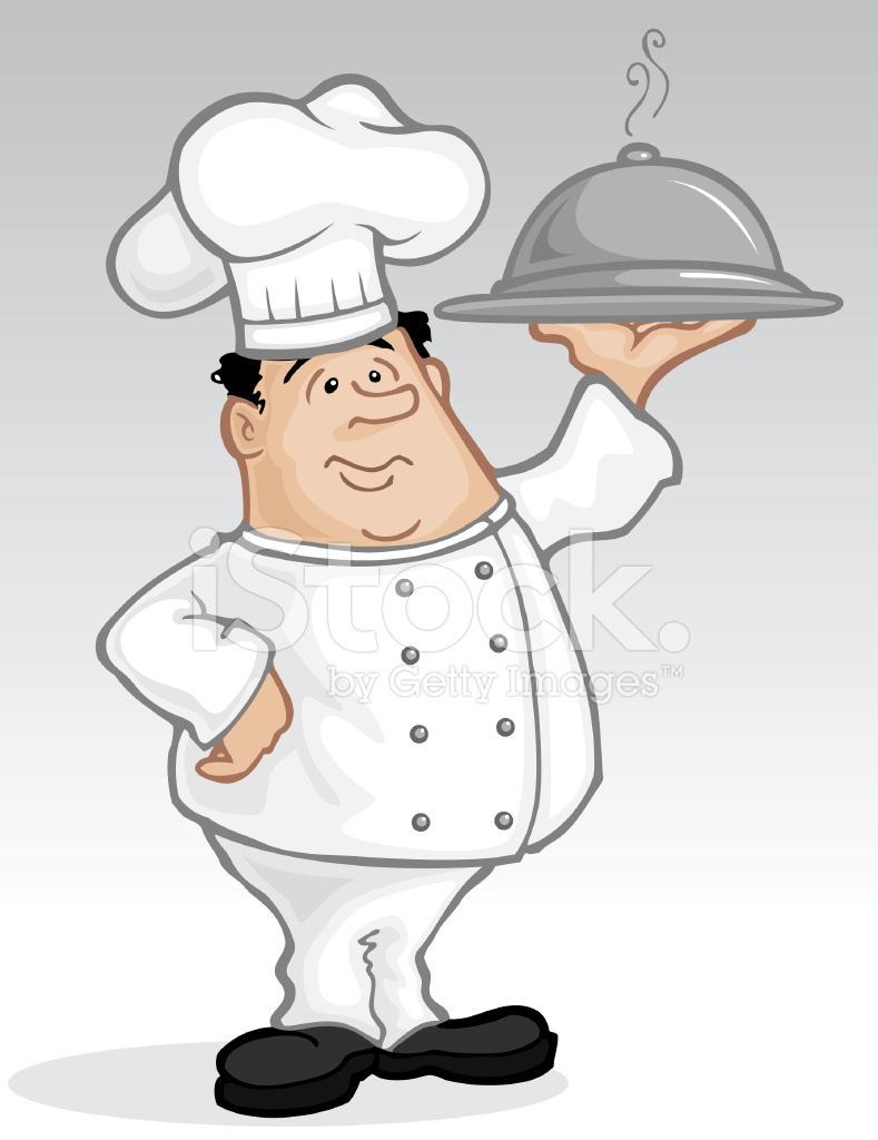 Adult dinner tray clipart clip art transparent Chef With Dinner Tray Stock Vector - FreeImages.com clip art transparent