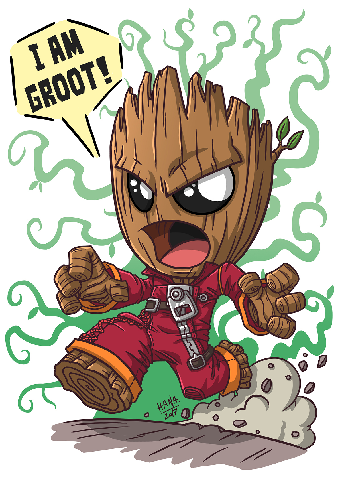 Adult groot clipart clip art royalty free download Angry Groot & Dancing Groot on Behance clip art royalty free download