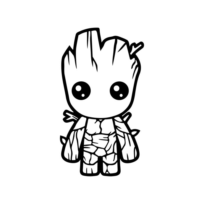 Baby groot appropriate clipart