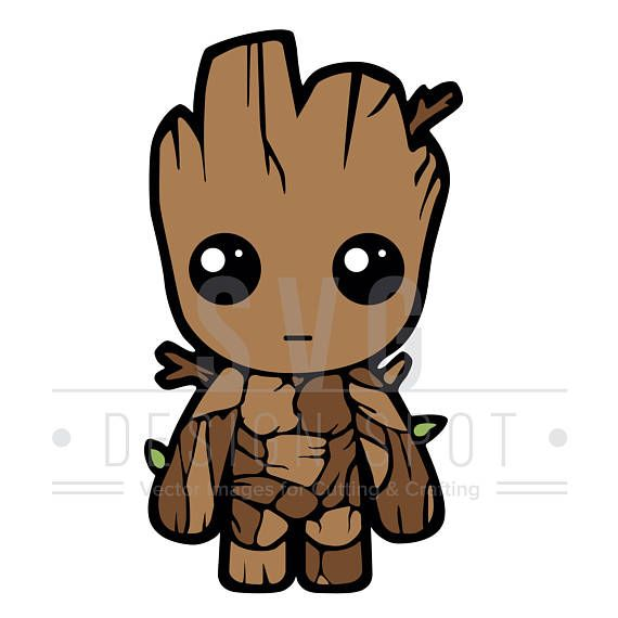 Adult groot clipart freeuse Pin by SVG Design Spot on Super Hero SVG Art | Baby groot, Cutting ... freeuse