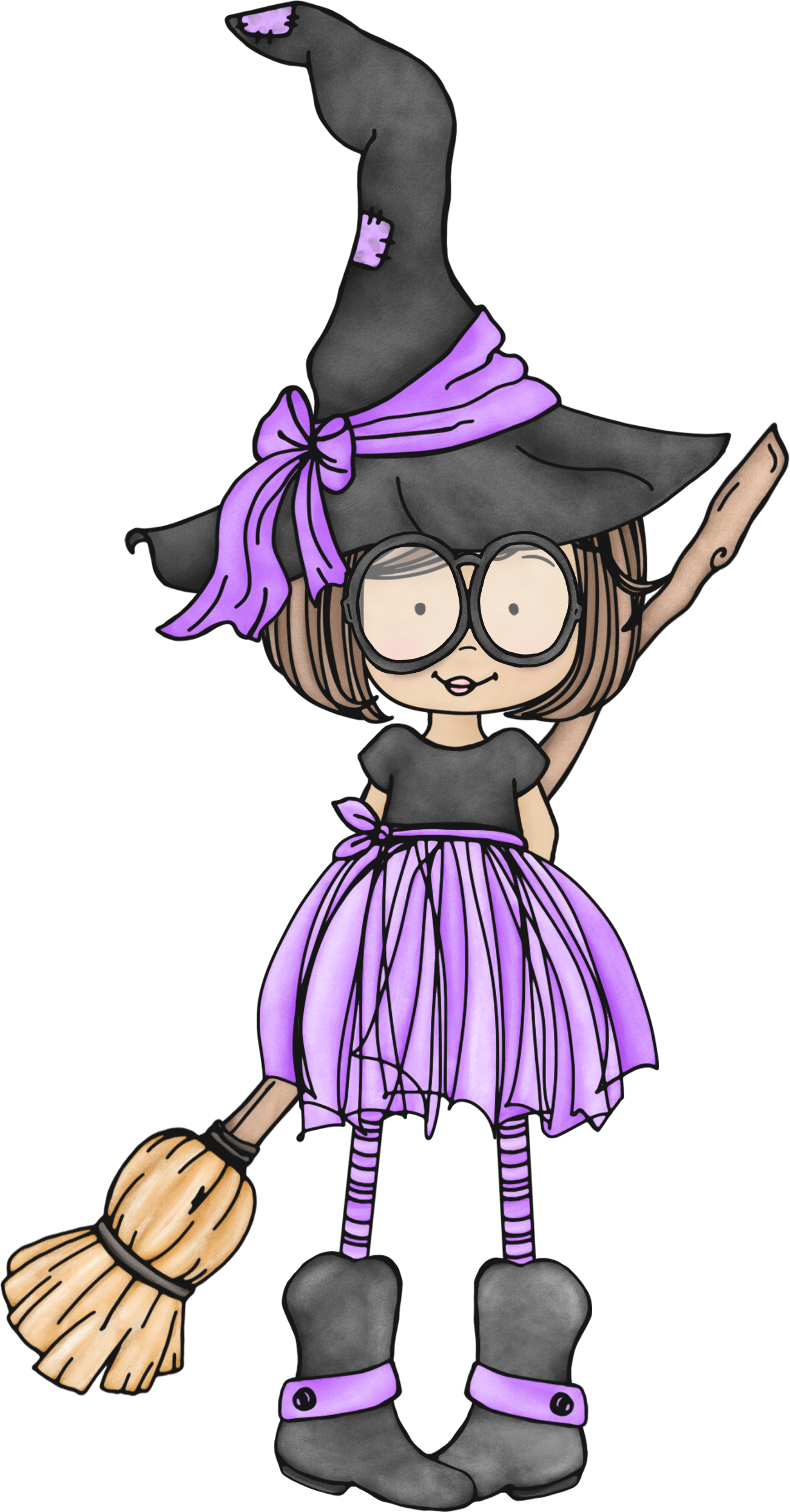 Spirit image clipart halloween clip transparent stock witch.quenalbertini: Cute little witch with glasses | Halloween ... clip transparent stock