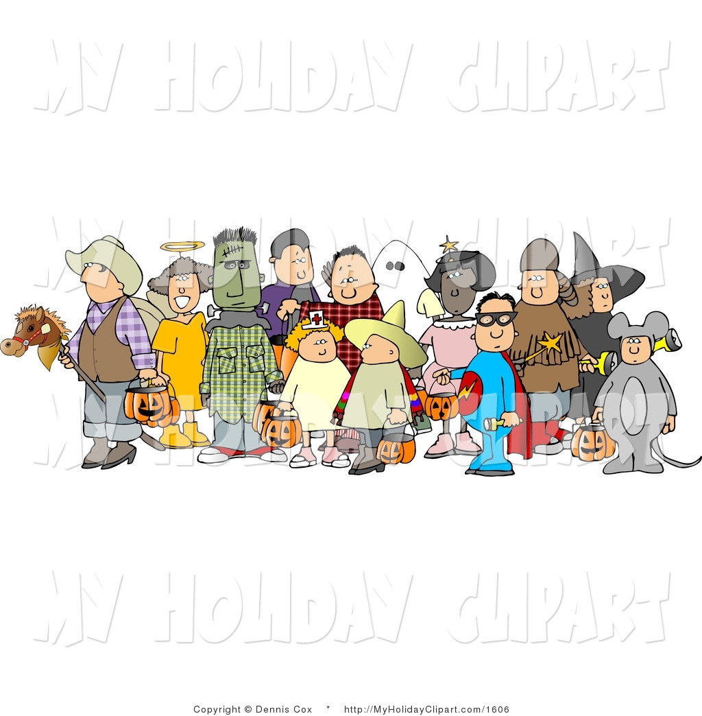 Large group children clipart