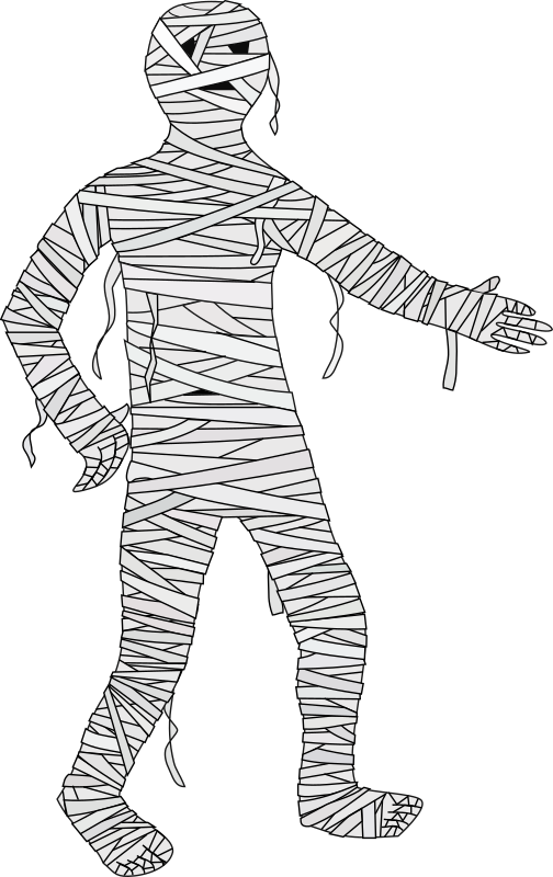 Mummy halloween clipart clipart black and white download Clipart - Mummy clipart black and white download