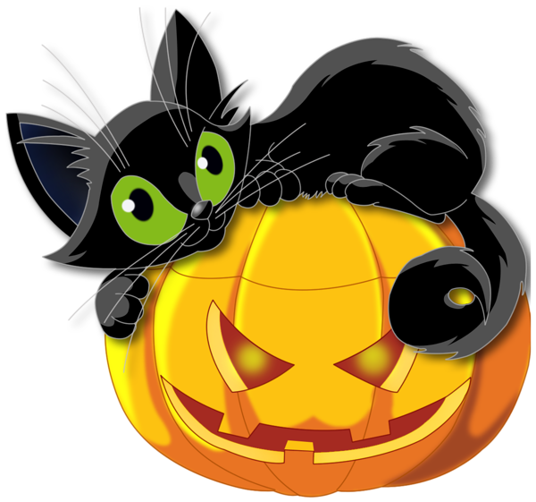 Vintage halloween clipart black and white cat image transparent download halloween - sorciere - chaudron - chat noir - | Pinterest ... image transparent download