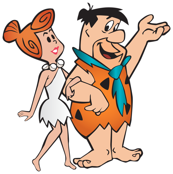 Halloween costume clipart transparent library Fred and Wilma Flintstone Transparent PNG Clip Art Image | Clipart ... transparent library