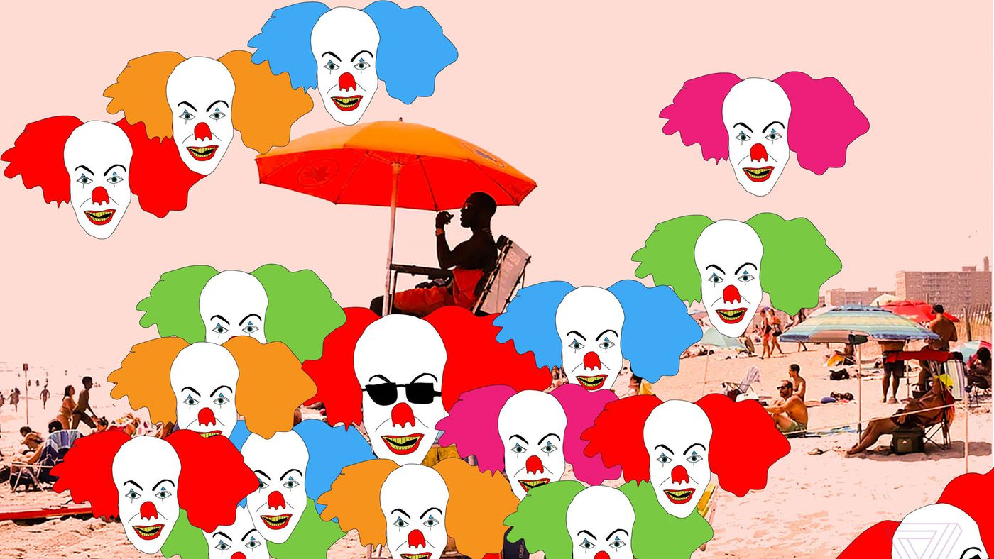 Creepy clown clipart do not say check out these pictures banner freeuse Reading Stephen King\'s It is an exhausting way to spend a summer ... banner freeuse