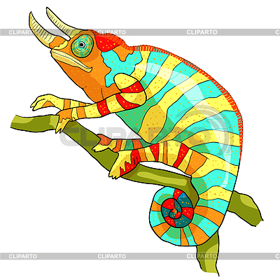 Adult male exotic clipart picture freeuse Chameleon | Stock Photos and Vektor EPS Clipart | CLIPARTO picture freeuse