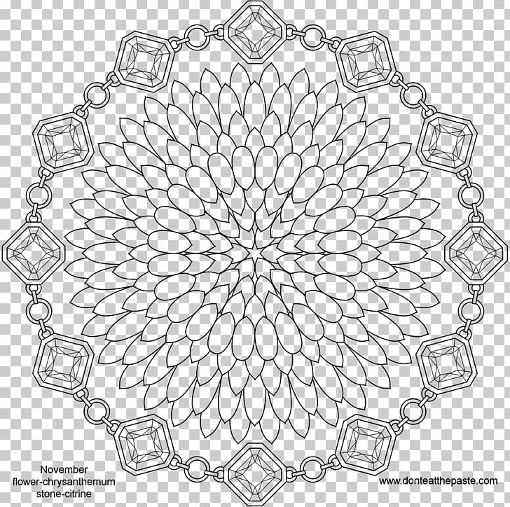 Adult november clipart picture black and white download Mandala Birthstone Coloring Book Adult PNG, Clipart, Adult, Amethyst ... picture black and white download