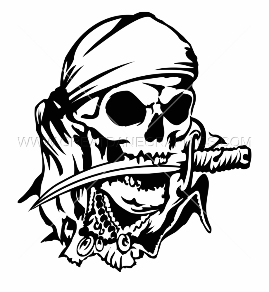 Adult pirate head clipart clip free stock Skulls Transparent Clipart Free - Pirate Skull And Knife Free PNG ... clip free stock