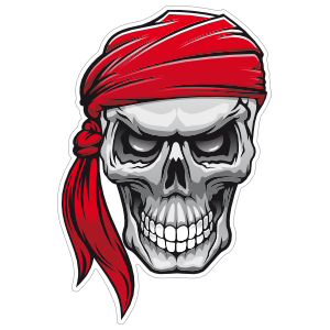 Adult pirate head clipart clip library download Pirate & Skull Stickers & Car Decals clip library download