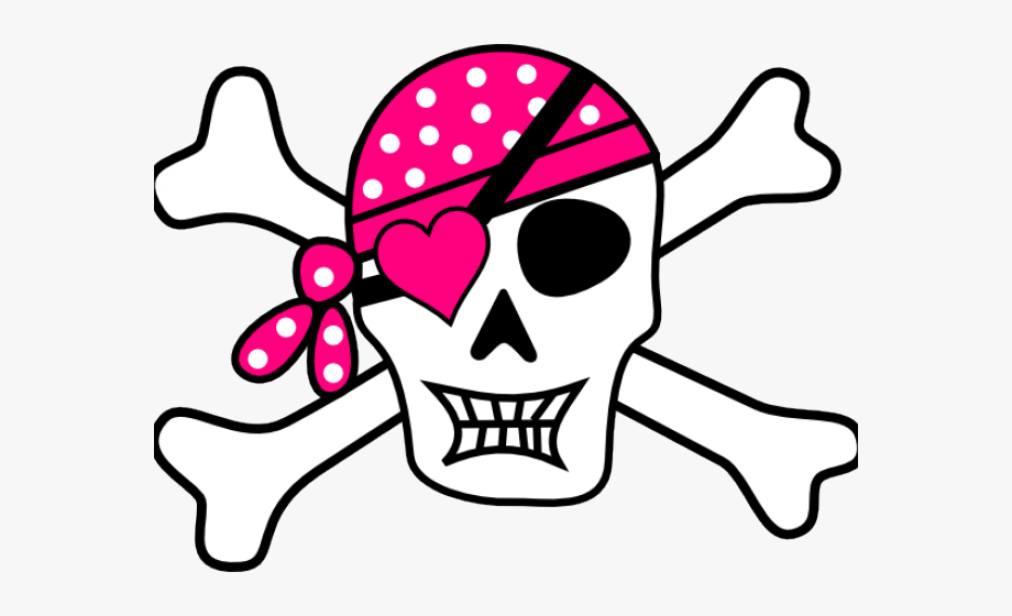 Adult pirate head clipart clip art download Skeleton Head Clipart Animated - Pirate Skull And Crossbones Girl ... clip art download