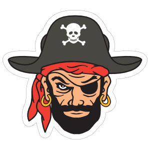 Adult pirate head clipart image free stock Pirate & Skull Stickers & Car Decals image free stock