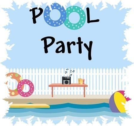 Adult pool party clipart png download Pin by Gail Kaiser on Sports | Boy pool parties, Pool party kids ... png download